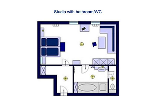 Family room with bathroom/WC